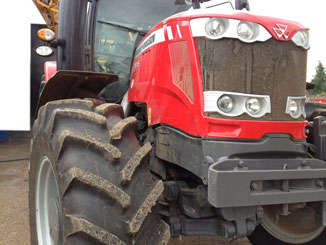 tractor drining